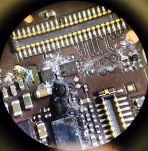 waer damaged motherboard